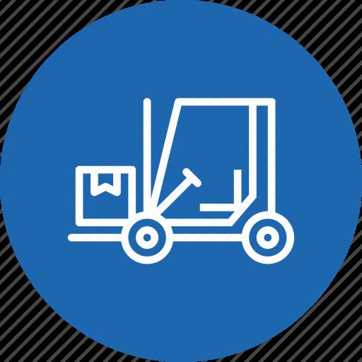 Boxes, delivery, forklift, logistic, luggage, parcel, transport icon - Download on Iconfinder