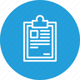 clipboard, delivery, identify, list, pen, sign, tick icon