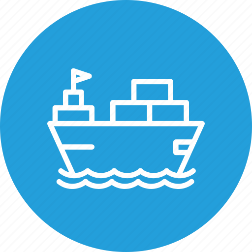 boat, container, deleivery, logistic, parcel, ship, transportation icon