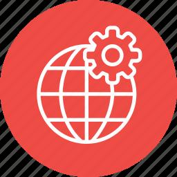 globel, international, logistic, setting, transport, travel, world icon