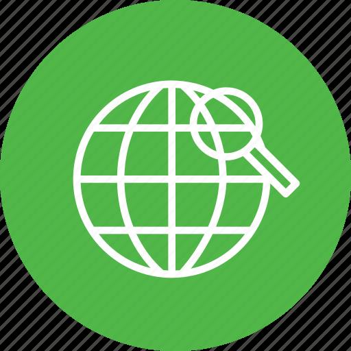 globe, globel, international, logistic, search, transport, world icon