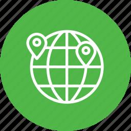 globel, international, location, logistic, transport, travel, world icon