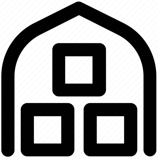 building, commercial building, factory, storage garage, storage unit, storehouse, warehouse exterior icon