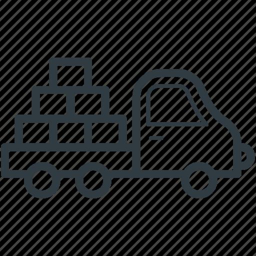 bricks truck, construction blocks, construction equipment, construction vehicle, truck icon