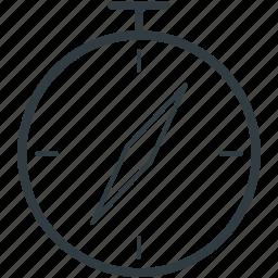 cardinal points, compass, directional tool, gps, navigational compass icon