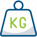 delivery, kg, kilogram, weight icon icon