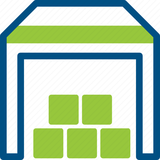 box, cargo, crate, goods, logistic, room, shelf icon icon