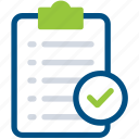 check mark, checklist, clipboard icon icon