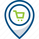 location, mall, map, place shopping, shop, shopping place icon icon