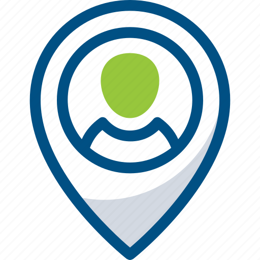 customer, location, map, marker, person, pickup, user icon icon