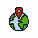 global, location, logistic, shipment, shipping, spot icon