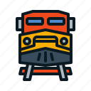 front, train, transportation icon