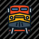train, front, transportation