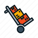 box, cart, delivery icon
