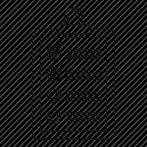 clip, line, list, logo, outline, plane tablet, sigh icon