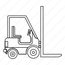 electric loader, line, load, loader, logo, outline, sigh icon