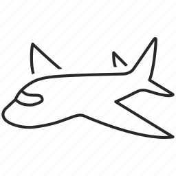 delivery, logistics, plane, shipping icon