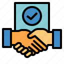 agreement, company, contract, outsourcing icon
