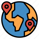 earth, geolocation, location, position icon