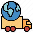 plane, shipping, transportation, worldwide icon