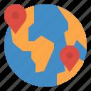 earth, geolocation, location, position icon
