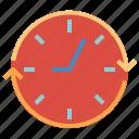 clock, round, round clock, time, watch