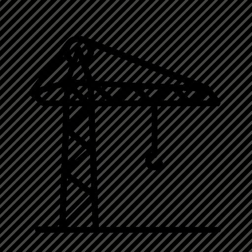 build, construction, crane, lift, move, port, shift icon