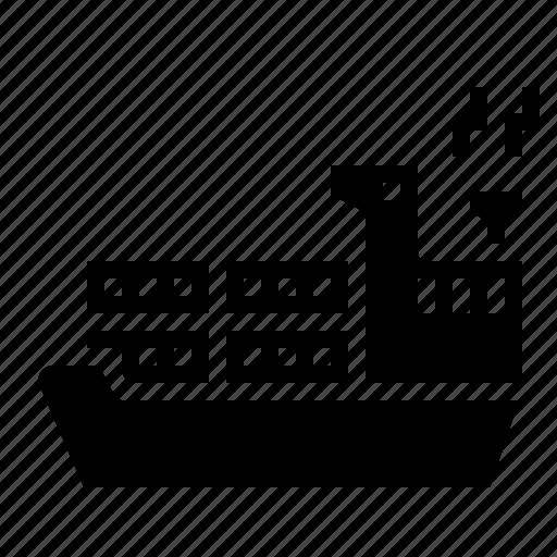 freight, logistics, sea, transport icon