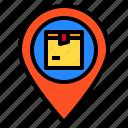 delivery, destination, location, logistics, map icon