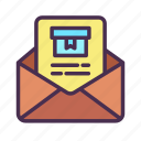 email, package, bill