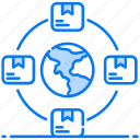 delivery network, freight network, global network, logistic network, shipment network