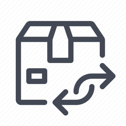 exchange, pack, package, product, return icon