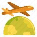 aeroplane, air, airplane, cargo plane, flight, freight icon