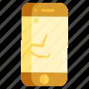 breakage, broken phone, cracked phone, phone damage icon
