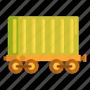 cargo, cargo train, train icon
