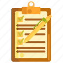 checklist, notepad, notes, to do icon
