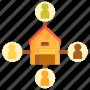 consumer direct logistics, logistics, warehouse icon