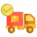 delivered, delivery completed, logistics icon