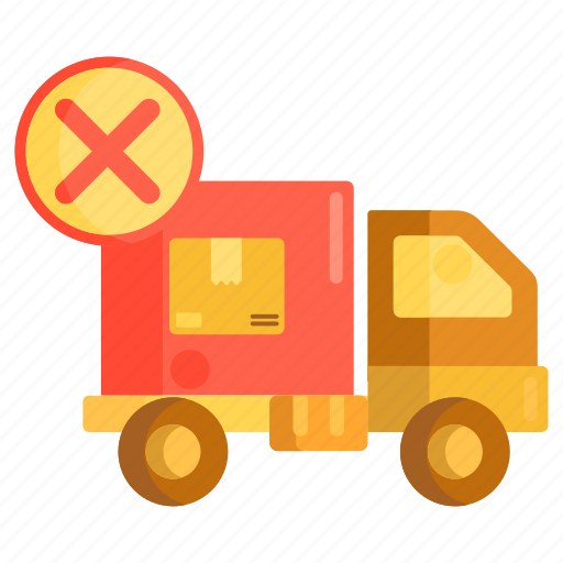 cancelled, delivery, delivery cancelled, logistics, pending icon