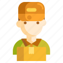 delivery guy, delivery man, mailman icon