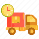 delivery, delivery schedule, delivery service, schedule, shipping schedule icon