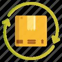 exchange, package, packaging, parcel, return icon