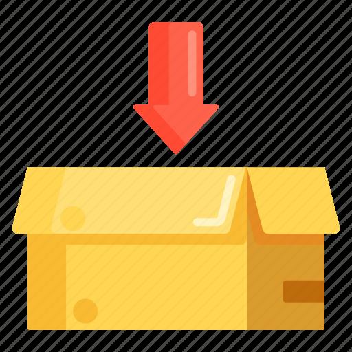 box, in, parcel, parcel in icon