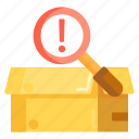 box, inspection, packaging, parcel, parcel inspection icon