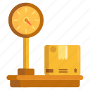 platform, platform weighing scale, scale icon