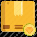 premium quality, quality, quality packaging icon