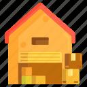 storage, storage unit, warehouse icon
