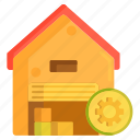 management, system, warehouse, warehouse management system icon
