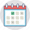 appointment, calendar, meeting, schedule, wall calendar icon