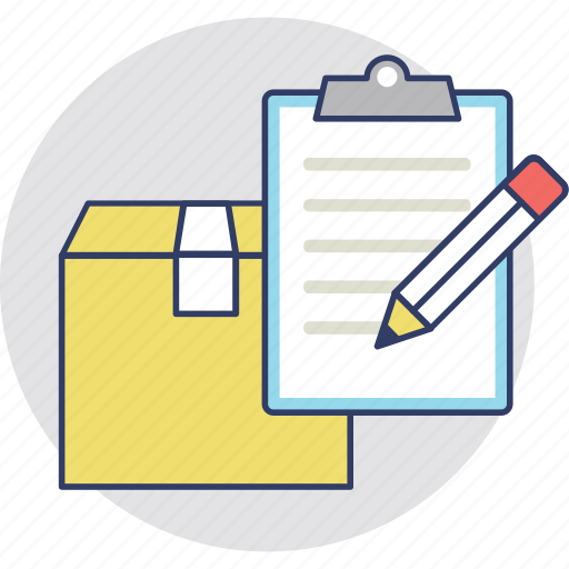 Account, counting, delivery report, logistics document, shipping record icon - Download on Iconfinder